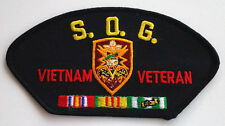 S. O. G. VIETNAM VETERAN Military US ARMY Cap Patch 1594 HO