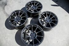 17X9 AodHan AH06 5X100 Rims +35 Black Wheels Aggressive Fits Brz Frs Wrx (Used)