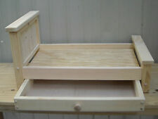 Handmade Rustic Style Trundle Bed for 18 inch doll
