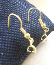 100PCS Wholesale  DIY Findings 18K Gold Plated  French Hook Pinch Bail Ear Wire