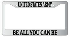 Chrome License Plate Frame United States Army, Be All You Can Be Auto 145