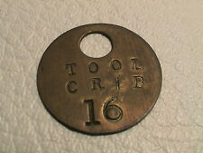 TOOL CRIB 16 MECHANICS PARTS DISTRIBUTOR BRASS TOKEN FOB BADGE KEY TAG