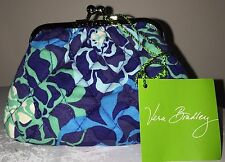 NEW VERA BRADLEY Kiss Kiss Coin Purse KATALINA BLUES + Matching Gel Pen NWT
