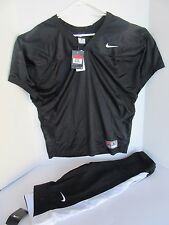NIKE Men's Mesh Practice Training Football Jersey and Pants Large Black NWT
