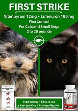 Flea Killer and Control for small dogs and cats, Superior Quality, 6 Capsules