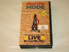 DEPECHE MODE - THE WORLD WE LIVE IN AND LIVE IN HAMBURG - VHS VIDEO