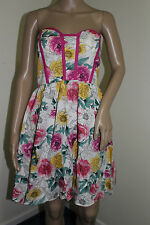 Kandy Kiss Juniors Built-In Padded Bra Floral Tube Dress NWT Size 9