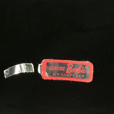 Vintage Barbie American Girl/Color Magic Red and Silver Wrist Tag Excellent HTF