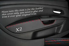 RED STITCH 2X FRONT DOOR CARD TRIM ARMREST COVER FITS FIAT GRANDE PUNTO 05-11