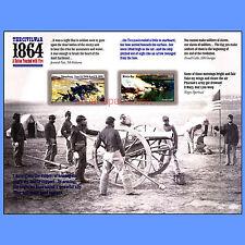 4910b-4911b Civil War 1864 Petersburg Mobile Bay Imperf Pane of 12 No Die Cuts