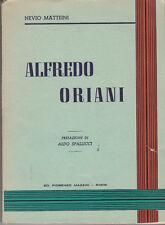 LETTERATURA MATTEINI NEVIO ALFREDO ORIANI 1952
