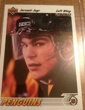 1991-1992 Upper Deck Autographed Jaromir Jagr Pittsburgh Penguins #256 Hockey Ca
