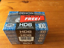 5-PACK DENON HD6-100 HIGH BIAS TYPE 2  AUDIO CASSETTE TAPES
