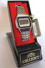 NOS W/BOX VINTAGE1976 EARLY ORIENT DIGITAL LCD CHRONOGRAPH WATCH NEW OLD STOCK