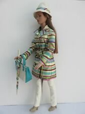 """Tonner 15"""" Tyler Wentworth 2003 Collection Doll Raincoat Hat Umbrella Bag Lovely"""