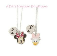 Disney Minnie Mouse & Daisy Duck Best Friends BFF Pendant Necklaces Set of 2 NWT