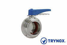 Tri Clamp Sanitary Stainless Steel 3'' 304 Butterfly Valve BUNA Seal Trynox
