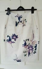 Worn Once£85 French Connection Size 8 10 Cream Floral Pencil Skirt Wedding Races