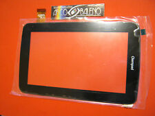 "VETRO+TOUCH SCREEN per CLEMPAD CLEMENTONI 7"" NO FORO FOTOCAMERA DISPLAY RICAMBIO"
