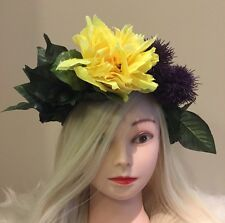 FLOWER HEADBAND CROWN HAIR PIECE FLORAL HEAD PIECE HALO WREATH EDM FESTIVAL HAIR