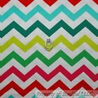 BonEful Fabric FQ Cotton Quilt White Red Green Holiday Xmas Chevron Stripe Retro