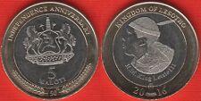 """Lesotho 5 maloti 2016 """"Golden Jubilee of Independence"""" BiMetallic UNC"""