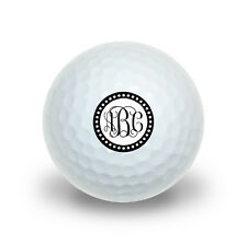 Personalized Custom Novelty Golf Balls 3 Pack - Monogram Fancy Scalloped