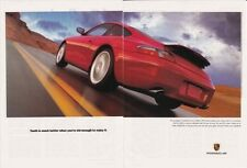 1999 PORSCHE 911  ~  296HP  ~  GREAT CLASSIC 2-PAGE AD