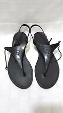 Gucci Women's Katina Rubber Thong Black Sandals US Size 5 Marker Size 36