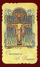 santino HOLY CARD  - CROCIFISSO di SAN DAMIANO