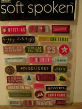 ME & MY BIG IDEAS SOFT SPOKEN CHRISTMAS WORDS STICKERS BNIP **LOOK**