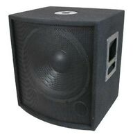 18'' PA / DJ Speaker Subwoofer PAIR 1000W in Cabinet