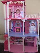BARBIE 3 Story Dream Town House Playset Townhouse w  Pieces ~ Lights & Sounds
