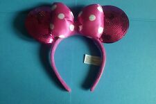 Disney Parks Minnie Mouse Pink Headband Sequin Ears Costume Dress Up