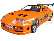 "BRIAN'S TOYOTA SUPRA ORANGE ""FAST & FURIOUS "" MOVIE 1/24 BY JADA 97168"