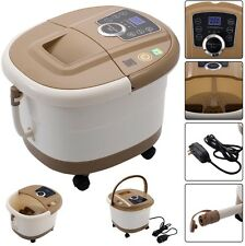 Portable Foot Spa Bath Massager Bubble Heat LED Display Vibration Infrared Relax