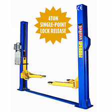 2 POST CAR RAMP LIFT -HOIST TWO POST 2 LOCKS ONE SIDE RELEASE