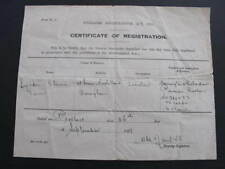 Australia 1929 Firearms Certificate of Registration 32