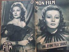 """MON FILM 1948 N 111 """" UNE JEUNE FILLE SAVAIT """":  DANY ROBIN et  FRANCOIS PERIER"""