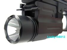 Tactical 300LM Cree LED Flashlight/light For Pistol/Glock Weaver/Picatinny Rail