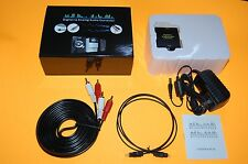 New Digital Optical Coax Coaxial Toslink to Analog RCA Audio Converter Stereo TV