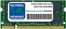 2GB DDR2 533MHz PC2-4200 200 PINES SODIMM MEMORIA RAM