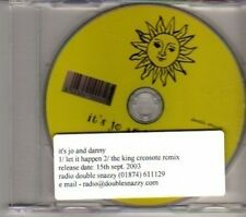 (DF29) It's Jo And Danny, Let It Happen - 2003 DJ CD