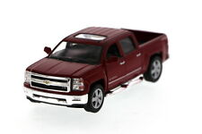 Kinsmart 2014 Chevy Silverado 1500 LTZ Pickup truck 1:46 model car Burgundy K131