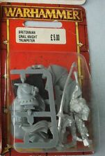 Bretonnian Knights Of The Realm - Grail Knight Trumpeter - OOP Warhammer Blister