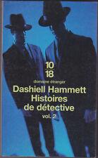 Histoires de détective 2 Dashiell HAMMETT