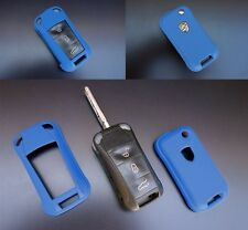 PORSCHE BLUE Remote Flip Key Cover Case Trim Shell Cap Fob Protection Hull 997 -