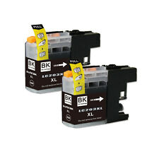 2 BLACK Printer Ink with chip for Brother LC201 LC203XL MFC J460DW J480DW J485DW