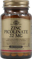 Zinc Picolinate, Solgar, 100 tablet 22 mg