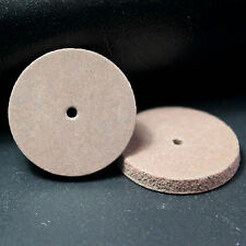 100 Pcs Dental semi-precious metals workpiece Rubber polish Wheel shape Brown UK